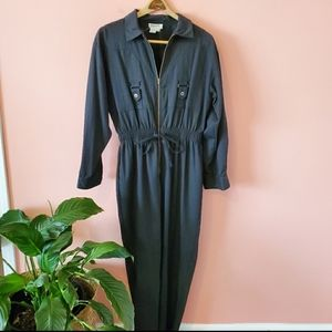 Vintage Utility Jumpsuit Dreams Black